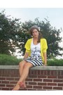Yellow-forever-21-cardigan-forever-21-top-forever-21-skirt