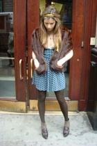 random accessories - vintage coat - zar dress - Max Studio shoes