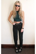 green Topshop top - creepers Underground flats