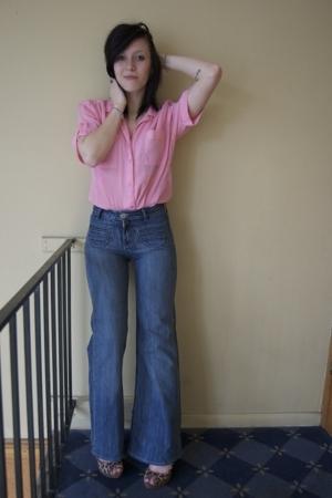 blouse - jordache jeans - Target shoes