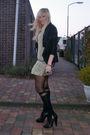 Black-muubaa-jacket-green-zara-dress-black-henry-holland-tights-black-h-m-