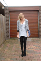 silver Primark blazer - black SuperTrash leggings - white H&M shirt - black Zara