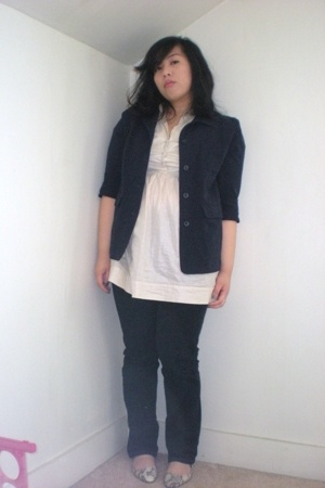 Secondhand blazer - forever 21 top - Target jeans - Urban Outfitters