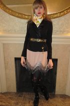 black See by Chloe jacket - pink 31 phillip lim skirt - brown linea pelle belt -