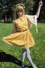 Yellow-vintage-the-villager-dress-yellow-vintage-the-villager-belt-beige-vin