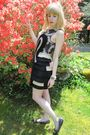 Black-31-phillip-lim-dress-white-vintage-costume-necklace-black-miu-miu-shoe