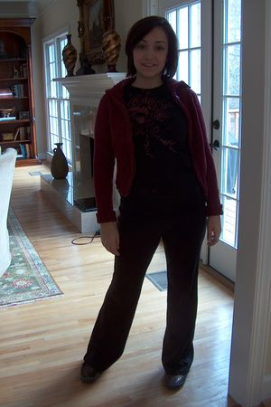 black TJ Maxx pants - red TJ Maxx sweater - black Slingshot shirt - black Keds s