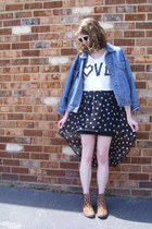 navy denim vintage jacket - brown leopard print Target boots
