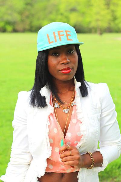 Diamond Supply Co hat - LaRok jacket - H&M necklace