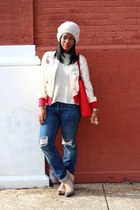 amanda uprichard jacket - Nine West boots - Levis jeans