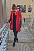 ruby red leather Mason by Michelle Mason coat