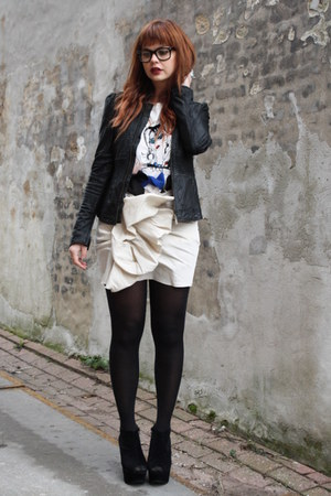 Lanvin for H&M skirt - Lanvin for H&M t-shirt - alpinestars jacket