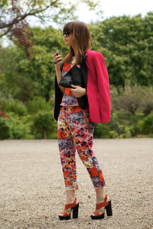 Chicwish blazer - Beginningboutique bag - suit - Primark sandals