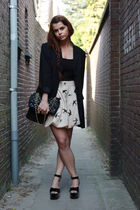 DIY skirt - Sonia Rykiel shoes - vintage blazer