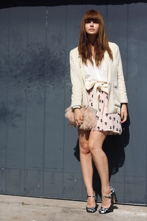 Miu Miu shoes - H&amp;M blazer - asos purse - American Apparel belt - Only skirt