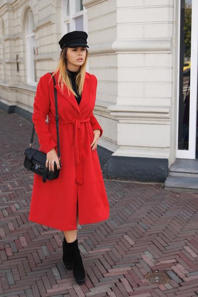 Zara boots - coat - H&M Paris show collection hat