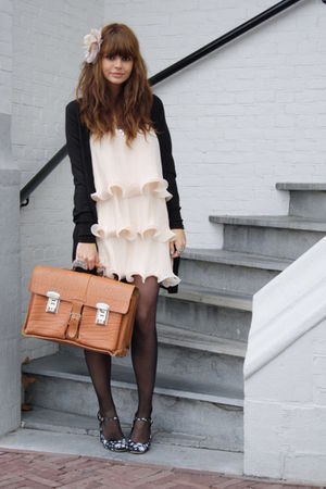 Miu Miu shoes - H&M dress - vintage bag