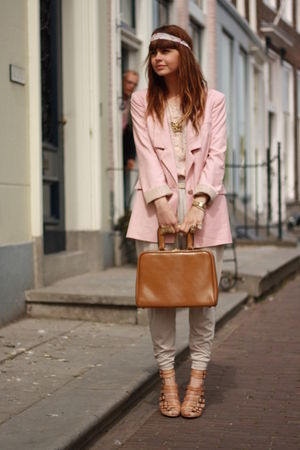 Vero Moda blazer - H&M pants - Oasis shoes - vintage purse