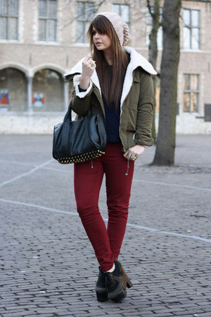 Burberry shoes - VJ-style jacket - Chicwish sweater