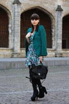 Zara blazer - Zara dress - VJ-style bag