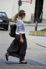 Charcoal-gray-zara-skirt-h-m-sweater-prada-sunglasses-burberry-flats