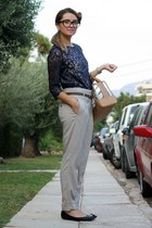 Bimba & Lola bag - Zara pants - H&M blouse