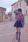 Blue-vintage-jacket-red-vintage-shirt-black-american-apparel-skirt-black-o