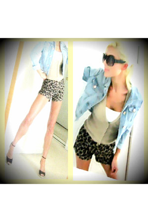 Forever 21 shorts - Gap jacket - shelf bra tank Express top