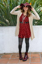 maroon dr marten style Target boots - brick red Yesstyle dress