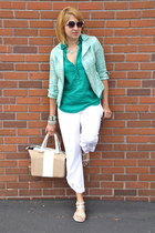 white twill capris kika Paprka pants - aquamarine Kika Paprika jacket