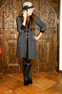 Charcoal-gray-madden-girl-boots-heather-gray-with-bow-trim-thread-show-hat
