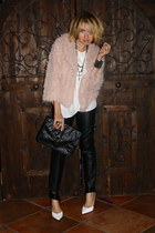 light pink shaggy cropped Forever 21 coat