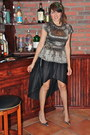 Silver-forever-21-top-black-pleated-hi-lo-forever-21-skirt