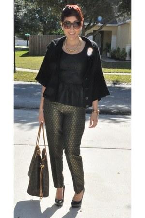 H&M pants - Charlotte Russe top - BCBG heels