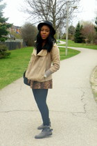 bronze OASAP skirt - heather gray Zara shoes