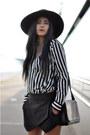 Black-h-m-hat-black-crossover-zara-bag-black-zara-skirt