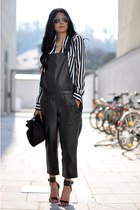 black Zara bag - black aviator ray-ban sunglasses