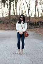 ann taylor sweater - ann taylor boots - Gap jeans - See by Chloe bag