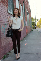Gap pants - Polish bag - Gap blouse - Missoni heels