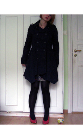 Topshop jacket - warehouse dress - vintage shoes - tights
