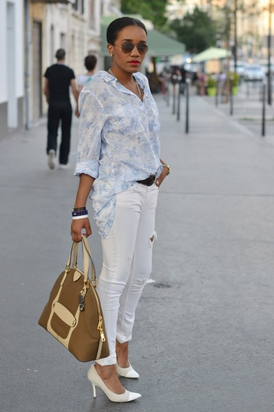 H&M jeans - Marc Jacobs bag - Nine West pumps - H&M blouse