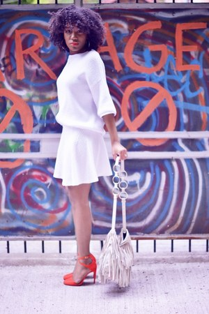 Zara pumps - Yves Saint Laurent bag - H&M skirt - Zara top