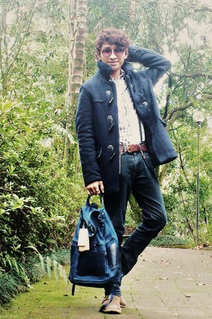 Aldo Conti Milan jacket - Levis boots - pull&amp;bear shirt - pull&amp;bear bag