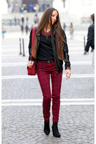 Zara jeans - Bershka boots - new look jacket - Zara bag