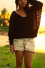 Suede-zara-boots-ripped-jeans-forever21-shorts-knitted-one-and-a-hafl-blouse