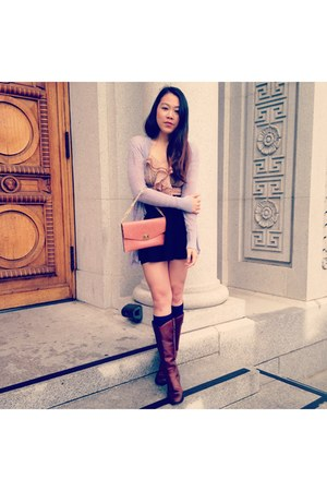 Frye boots - Forever 21 top - LC cardigan