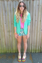 rainbow Claires Accessories necklace - mint Forever 21 blazer