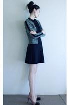 French Connection dress - Miss Selfridge cardigan