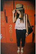 brown union mallbkk hat - pink indie marketSiam square top - brown union mallbkk