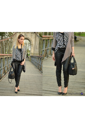 Zara bag - nissa blazer - leather Zara pants